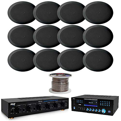 6 Channel High Power Stereo Speaker Selector W/Volume ControlHome Theater Preamplifier Receiver