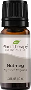 Plant Therapy Nutmeg Essential Oil 10 mL (1/3 oz) 100% Pure, Undiluted, Therapeutic Grade