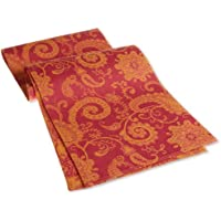Mahogany Jaisalmer Jacquard Fused Reversible Runner, 13 by 72-Inch, Fuschia