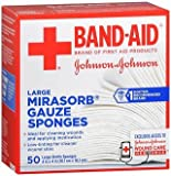 JOHNSON & JOHNSON Band-Aid Mirasorb Gauze Sponges 4 Inches X 4 Inches 50 Each (Pack of 2)