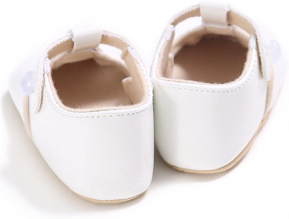LINKEY Baby Christening Baptism Mary Jane Soft Sole Princess Dress Shoes Flat
