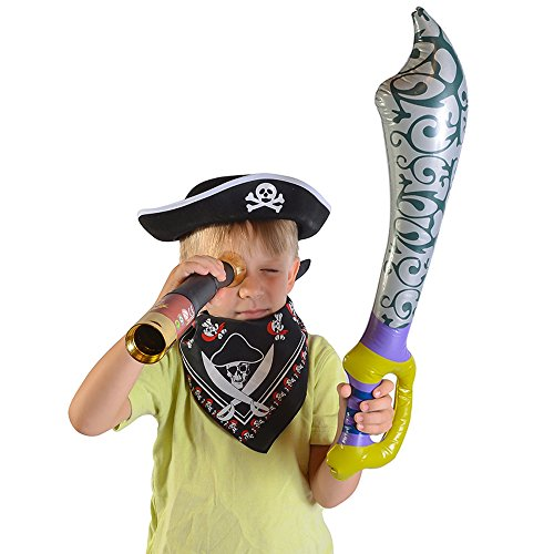 [Pirate Accessories - Pirates Costume Set for Kids by Funny Party Hats] (Sea Themed Costume Party)
