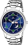 HEMT Quartz Movement Day and Date Analogue Display Blue Dial Men's Watch