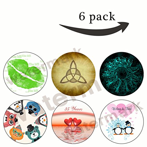 Swirl Pedestal (Pox Cell Phone Holder.Pop Expanding Stand Socket Mount Holder for iphone,Smartphone & Tablet(6 Pack)-(Z52)animal,ghost people swirl,green lips kiss,happy couple,Hearts,holy trinity symbol)
