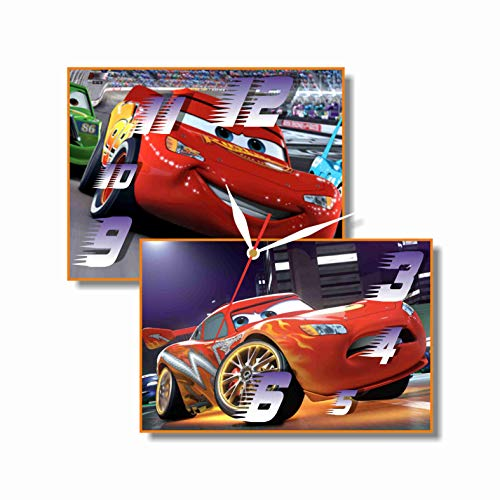 MAGIC WALL CLOCK FOR DISNEY FANS Cars - Lightning McQueen 11.8'' Handmade Made of Acrylic Glass - Get Unique décor for Home or Office - Best Gift Ideas for Kids, Friends, Parents and Your Soul Mates