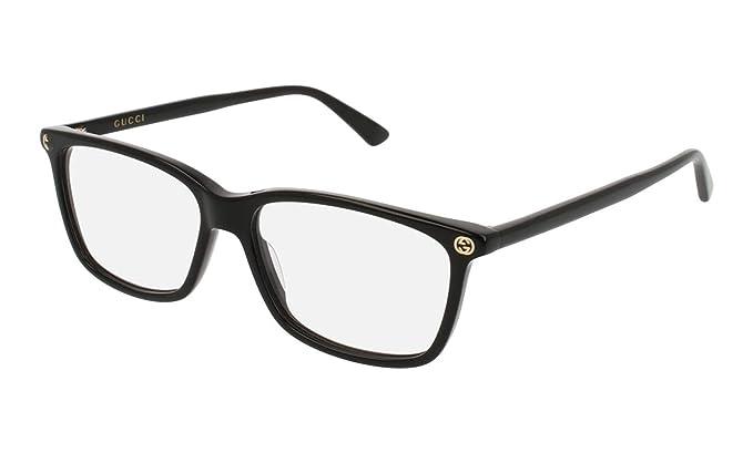 63e327a99ec Amazon.com  Gucci GG0094O Eyeglasses 001 Black 52 mm  Clothing