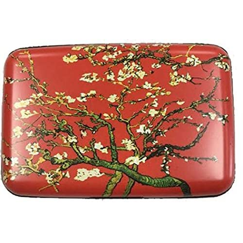 RFID Secure Armored Wallet - Fine Art 4, Red Branches