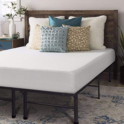 Crown Comfort 8 Inch Memory Foam Mattress And Bed Frame Set Full