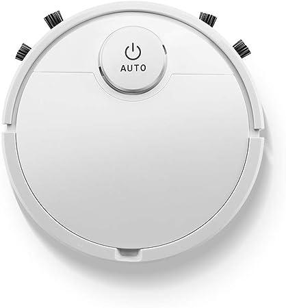 SutMsh Robot Aspirador Robot de Limpieza del Hogar Ecológico Ultrafino Aspirador Automático Silencioso Recargable Ideal para Pelo de Mascotas, Suelos Duros y Mantas (Blanco): Amazon.es: Hogar