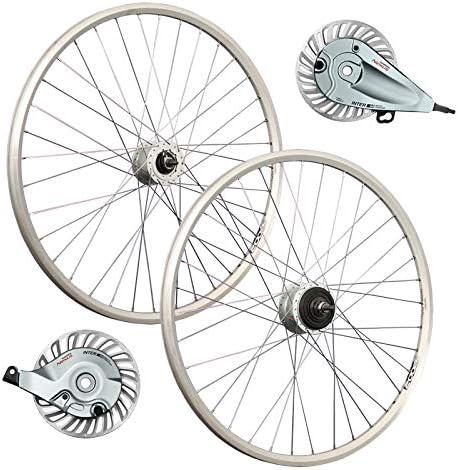 Taylor-Wheels Rueda Delantera Bici 28 ZAC2000 Dinamo de buje Frenos de Rodillo