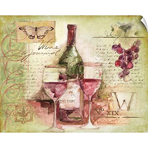 Davis Pinot Noir Wine - CANVAS ON DEMAND Wine Vignette Wall Peel Art Print, 20