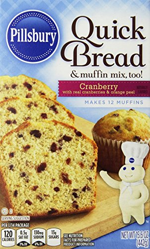 Price comparison product image Pillsbury Cranberry Quick Bread,  15.6-Ounce Boxes (Pack of 12)