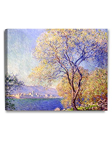 DecorArts - Antibes Seen From the Salis Gardens, Claude Monet Art Reproduction. Giclee Canvas Prints Wall Art for Home Decor 30x24