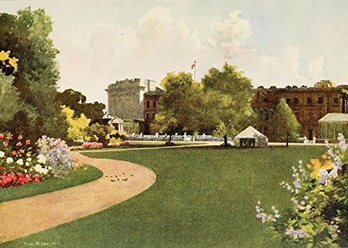 Posterazzi Royal 1916 Buckingham Palace and Garden Poster Print by Mima Nixon, (24 x 36) ()