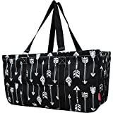 "N. Gil All Purpose Open Top 23"" Classic Extra Large Utility Tote Bag 2 - Black Arrow"