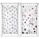 #6: Thread Nebula Baby Crib Sheet Set 2 Pack | Super Soft Breathable Toddler Sheet Set for Baby Girls