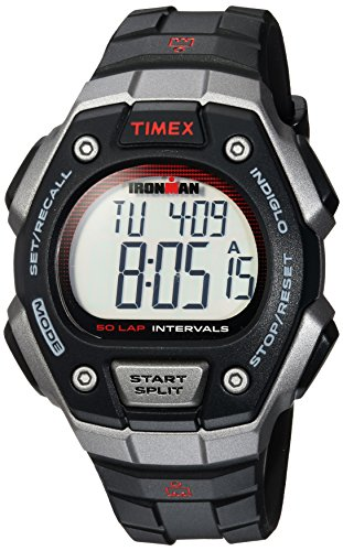 50 Lap Memory Stopwatch (Timex Men's TW5K85900 Ironman Classic 50 Full-Size Black/Gray/Red Resin Strap Watch)