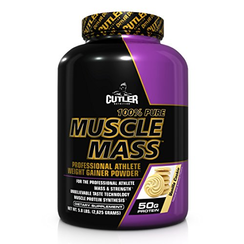 Cutler Nutrition 100% Pure Muscle Mass Weight Gainer Powder, Vanilla Cookie, 5.8 Pound