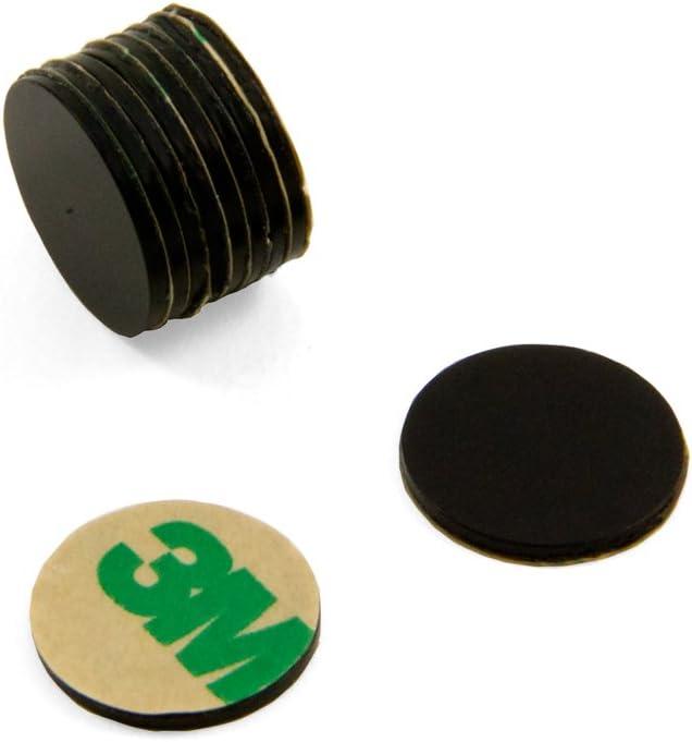 10 15 mm di/ámetro x 1 mm autoadhesivo cierre magn/ético con texto en ingl/és N42 epoxi con 1,1 kg para first4magnets f309bksa negro 10 unidades