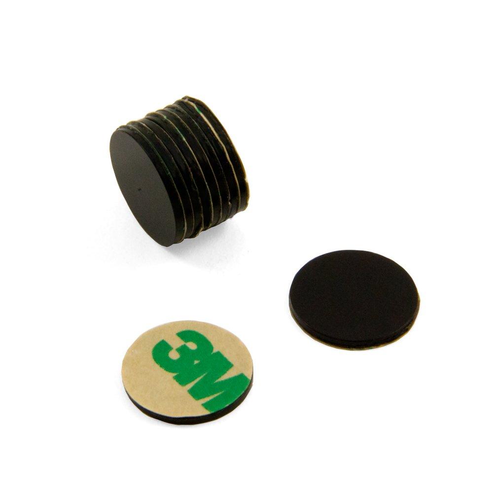 Magnet Expert® Adhesive 15mm dia x 1mm N42 Black Epoxy Magnet - 1.1kg Pull ( South ) ( Pack of 10 ) Magnet Expert® F309BKSA-10