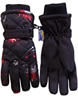 N'Ice Caps Women's Quilted Fireworks Design Thinsulate and Waterproof Ski Gloves