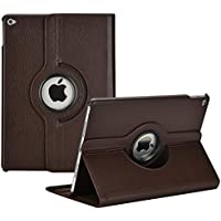Aavjo, 360° Degree Swivel Rotating Multi Angle stand PU Leather Screen protective Smart book folio flip carry back case cover for Apple iPad Pro 10.5-inch 2017 Released (Model: A1701 / A1709)- Dark Brown