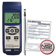 Reed Instruments SD-4214 Thermo-Anemometer/Data Logger with NIST Traceable Certificate