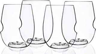 product image for Govino Go Anywhere Dishwasher Safe Flexible Shatterproof Recyclable Wine Glasses, 16-ounce, Set of 4 and a Wine Savant Glass Cleaning Towel (2 Piece Bundle)