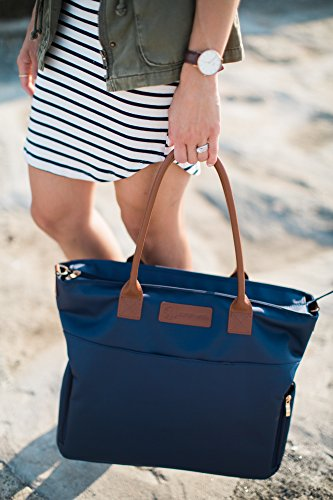 Sarah Wells ''Abby'' Breast Pump Bag, Real Leather Straps (Navy) by Sarah Wells (Image #5)