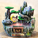 GL&G Chinese style Wedding Gifts Creative High-end Resin art Crafts rockery Water Tabletop Scenes Indoor Tabletop Fountains Ornaments Humidifier Parts,362336cm