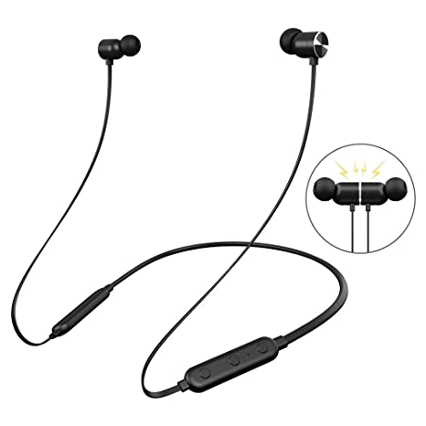 42f5463caa7 Bluetooth Headphones Neckband, Dostyle Wireless 4.2 Magnetic Earbuds Sports  Sweatproof in-Ear Earphones Noise
