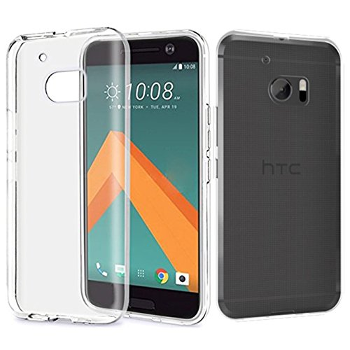 Tektide Case for HTC 10/HTC10, [Invisible Armor] Xtreme Clear Slim Soft Resilient Lightweight Rubber Bumper Case/Back Cover -Thinnest Case Ever. (Best Htc Phone Ever)