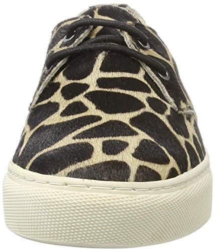 Maruti Damen Brazz Hairon Leather Sneaker Mehrfarbig (Turtle Beige Black)