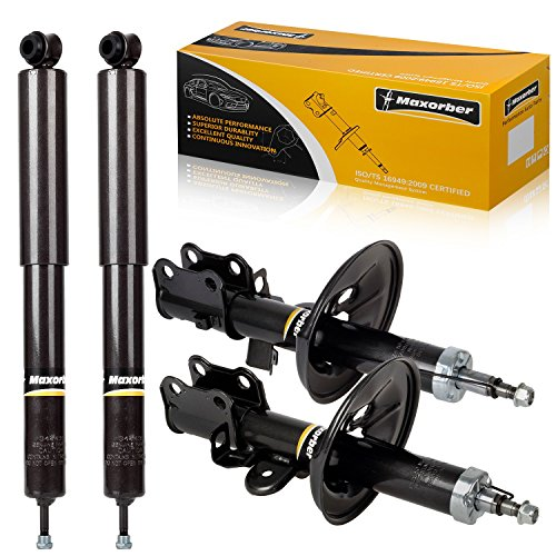 Maxorber Front & Rear Full Set of 4 Shock Struts Absorber Kit Compatible with Toyota Previa 1991-1997
