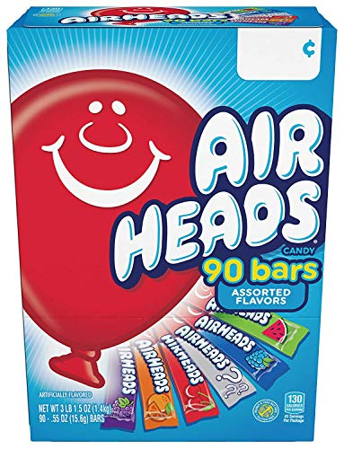Airheads Bars, Chewy Fruit Candy, Easter Basket Stuffers, Variety Pack, Party, Non Melting, 90Count (Packaging May Vary), 5 Pack by Airheads (Image #3)