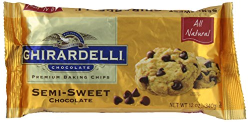 - Ghirardelli, Semi Sweet Chocolate Chips, 12 oz