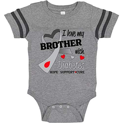 Amazon.com: inktastic I Love My Brother con diabetes bebé ...