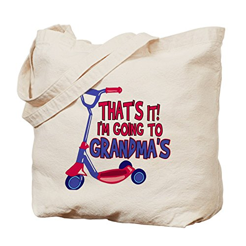 Cafepress – going to Grandma' s – Borsa di tela naturale, tessuto in iuta