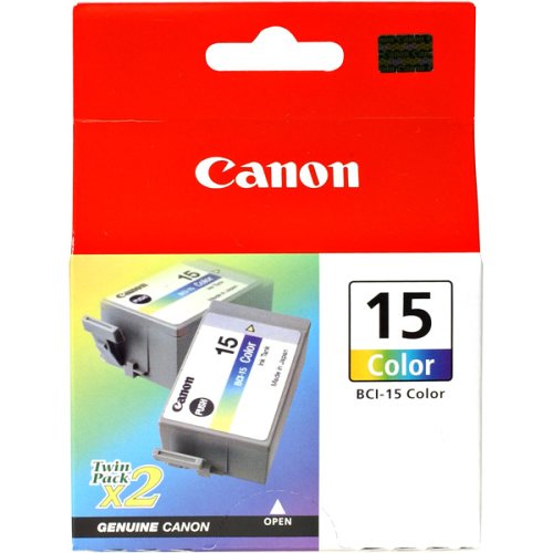 [Canon BCI-15 Twin Pack Color Ink Cartridges] (Canon I80 Inkjet)