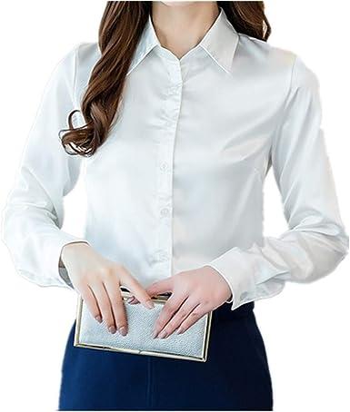NOBRAND Nueva camisa de mujer elástica empalme superior delgada manga larga camisa para mujer