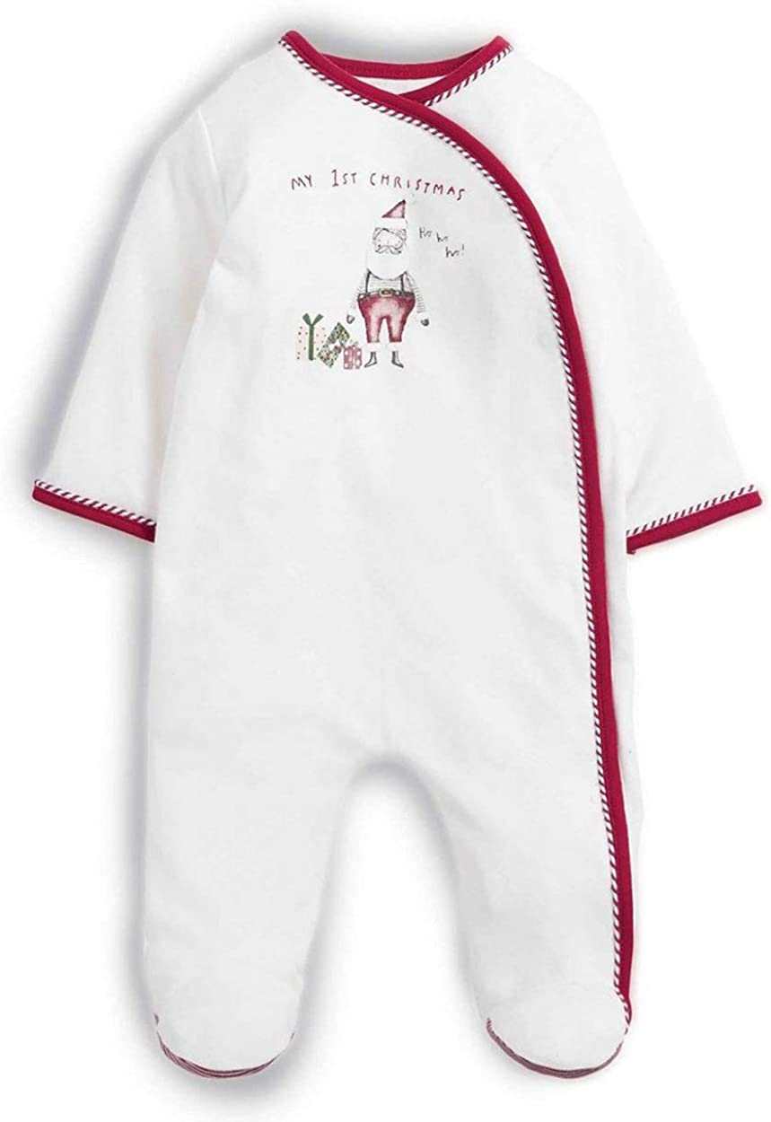 Baby Best Buys Mamas /& Papas White All in One My 1st Christmas Santa Wrap Fronted Sleepsuit 100/% Cotton Katies Playpen Newborn