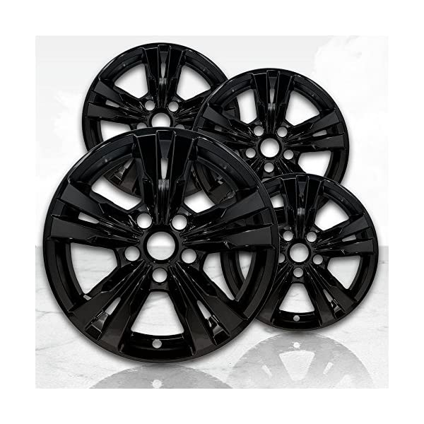 Upgrade-Your-Auto-17-Gloss-Black-Wheel-Skins-Set-of-4-for-2010-2017-Chevy-Equinox-5433