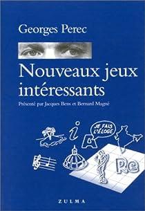 Book's Cover ofNouveaux Jeux intéressants