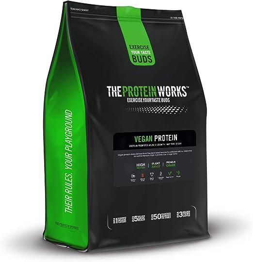Vegan Protein Powder | 100% A Base de Plantas | Sin Gluten | Ecológico | Bajo en Grasas| THE PROTEIN WORKS | Sin Sabor | 500g