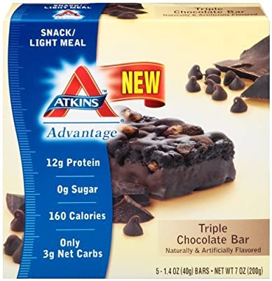 Atkins Advantage Bar Triple Chocolate -- 5 Bars