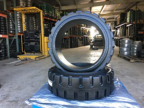 Forklift Black Traction Tire 21X7X15