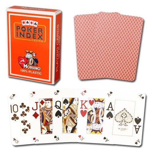 Modiano Poker Index 100% Plastic - Orange