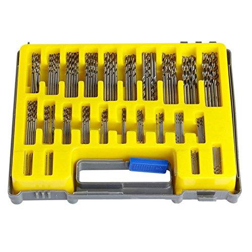 Twist Drill Kit - 150-piece Mini Twist Drill Bit Set by Volterin, HSS Micro Precision Twist Drill Bit Kit (24 Sizes 0.4-3.2mm) | Small Bit Micro-Hole Opener