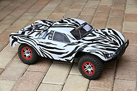 Traxxas Slash 1/10 Zebra Body 4x4 VXL 2WD Slayer Shell Cover Truck Car 6811 (Truck not included) (Proline Body Slash 4x4)