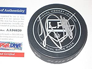 Luc Robitaille Signed L.A. Kings Official Game Hockey Puck - PSA/DNA Certified -